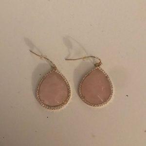 Never worn light pink earrings